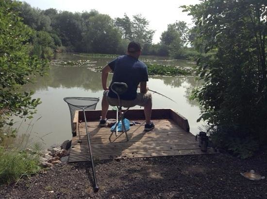 The Old Oaks Touring Park: the fishing lake