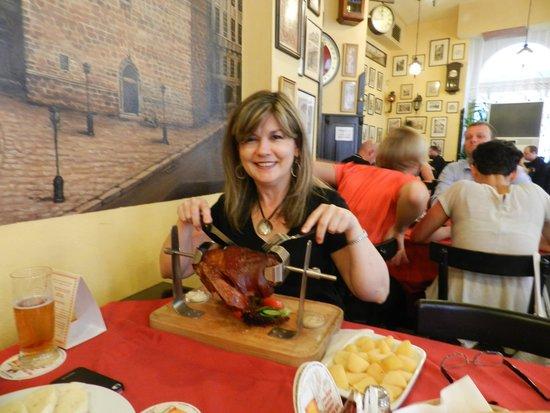 Restaurant U Jindrisske Veze : Pork knuckle!