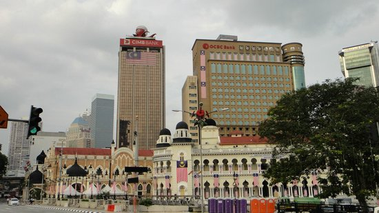 Centre ville de Kuala Lumpur : Piazza Indipendenza.  Merdeka Square