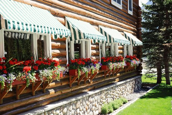 Post Hotel & Spa: Charming flowers fill window boxes outside restaurant