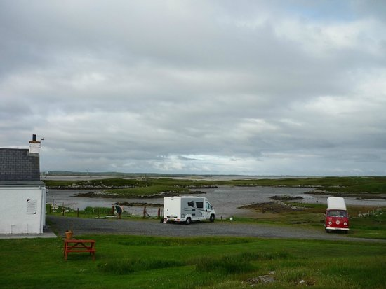 Moorcroft Holidays: Looking over to Benbecula from the campsite