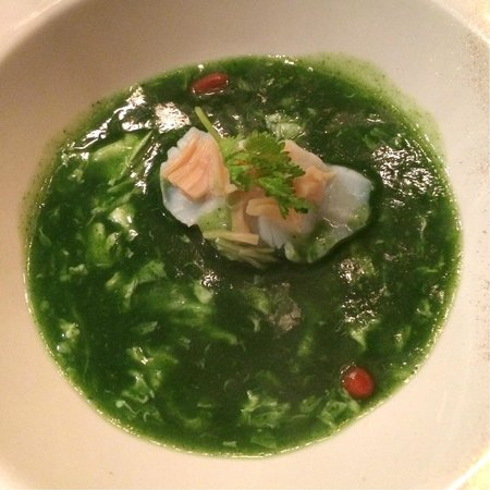 Majestic Restaurant: Double boiled sea treasures soup with black truffle