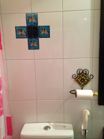 Ikaki Niwas : Bathroom and tile decoration