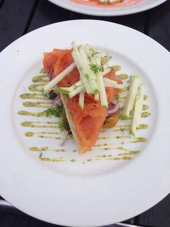 Blond lunch & diner: voorgerecht zalm
