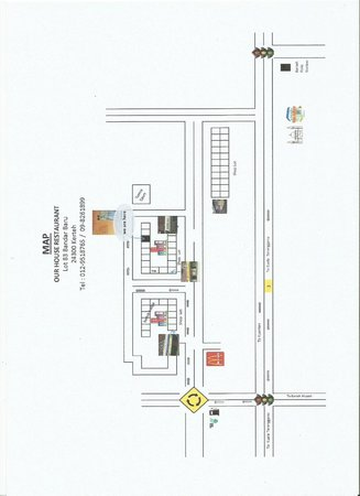 Kerteh, Malaysia: Our House Restaurant Map