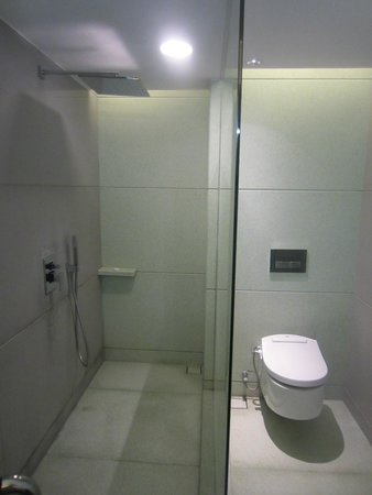 The Kuta Beach Heritage Hotel Bali - Managed by Accor: The shower and toilet is separated, there is a glass door for each room that not shown in this p
