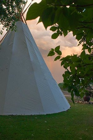 Mountain View Motel and Campground: Stay in a Tipi $10 Per Person per night