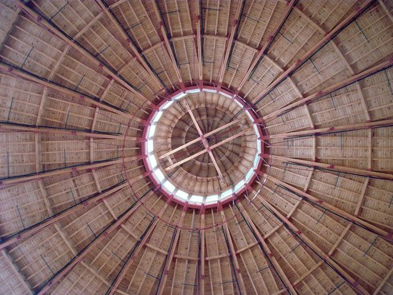 Baltimore and Ohio Railroad Museum : Interior Roof of Roundhouse