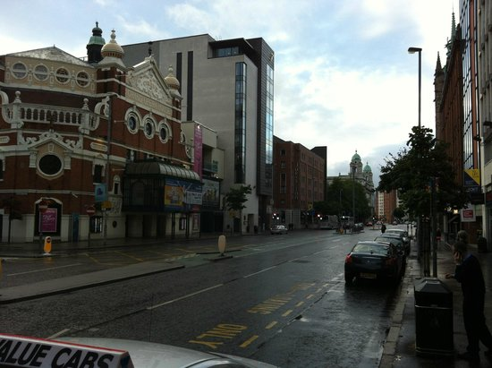 Jurys Inn Belfast: Jurys in the distance with the Grand Opera House