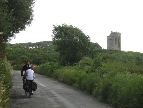 West Ireland Cycling: tandem uphill