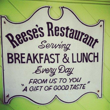 Reese's Restaurant: Reese's