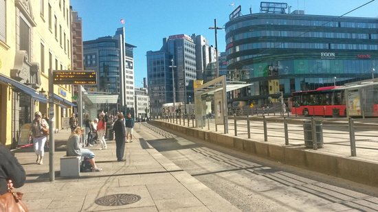 Radisson Blu Scandinavia Hotel: Close to Trams and Buses!