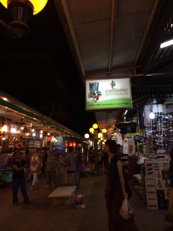 Angkor Night Market: The scene. Khmer traditional dance is offered at 8.00 pm daily.