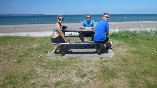 Nairn Beach : 1 young norwegians on/ at the beach