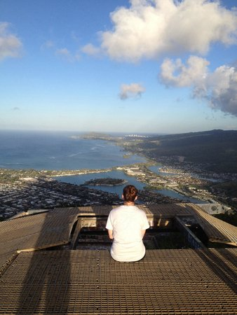 Discover Hawaii Tours: Partial view from top of Koko Head Crater. Hike and your with Ric Chao