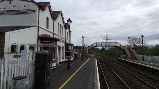 Llanfairpwll Railway Station: On the platform