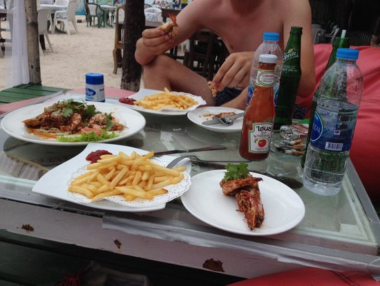 Marine Bungalows: Best prawns on the planet.