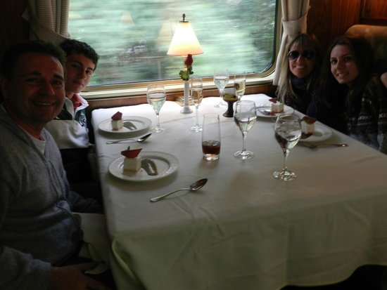 Train Hiram Bingham : Almoço perfeito