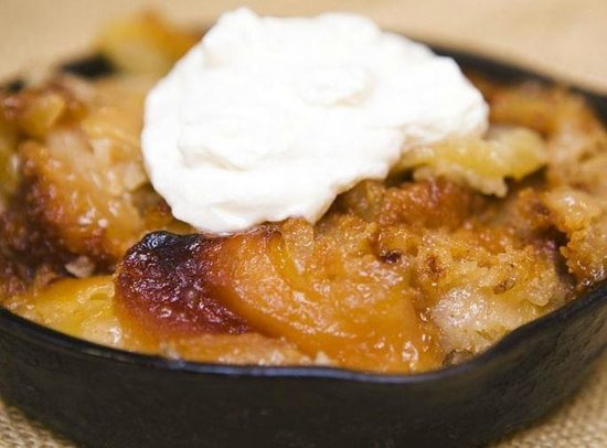 City Barbeque: Cobbler with home mad real Whipped Cream