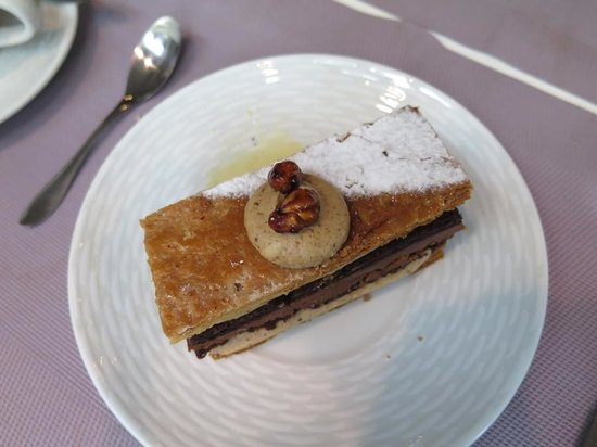 Maison Vincent Dallet Père & Fils : Best dessert among the 6 of us goes to the chocolate mille feuille