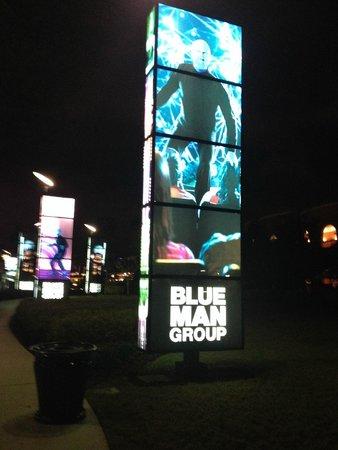 Blue Man Group: Entrada do show