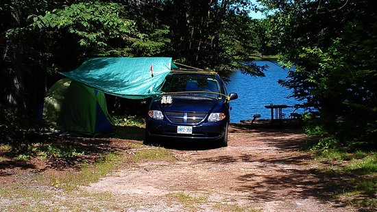 Lake Superior Provincial Park: CRESCENT LAKE CAMPGROUND, SITE#6, JULY 2014.