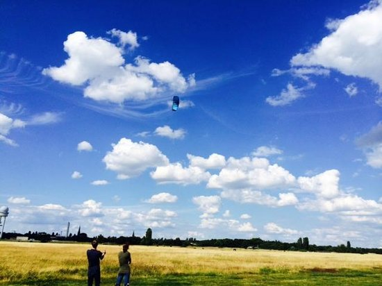 Tempelhofer Park: No better place to fly a kite and many other things as well