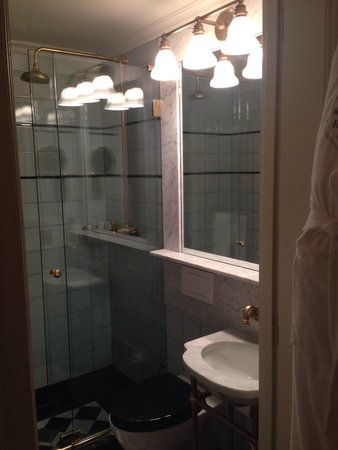 Very small bathroom but walk in shower surprisingly roomy for Really small bathroom