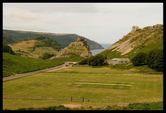 Valley of Rocks Walk-South West Coast Path: Valley of the Rocks looking across the cricket pitch