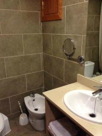 Tossa Center Hotel: Twin room bathroom