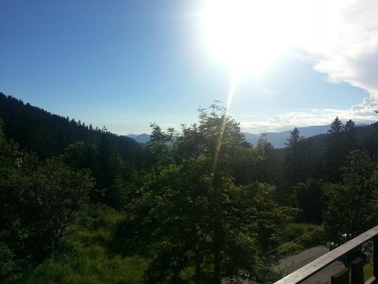 Hotel Les Chamois: Coucher de soleil du balcon