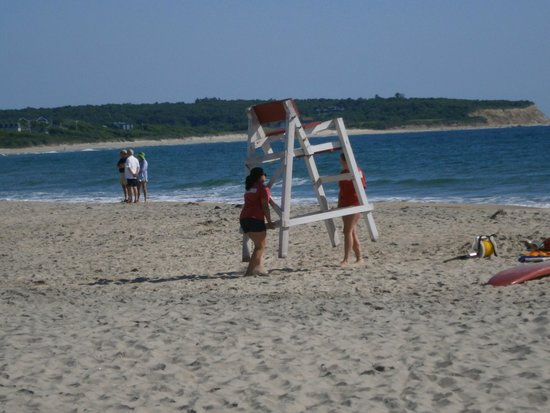 Crescent Beach / Fred Benson Town Beach: Lifeguards preparing for the day