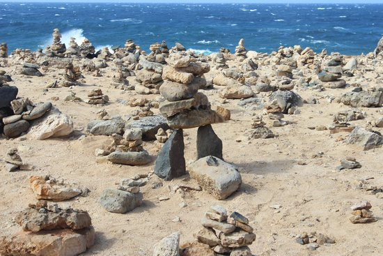 De Palm Tours: There were thousands of rocks stacked for good luck!
