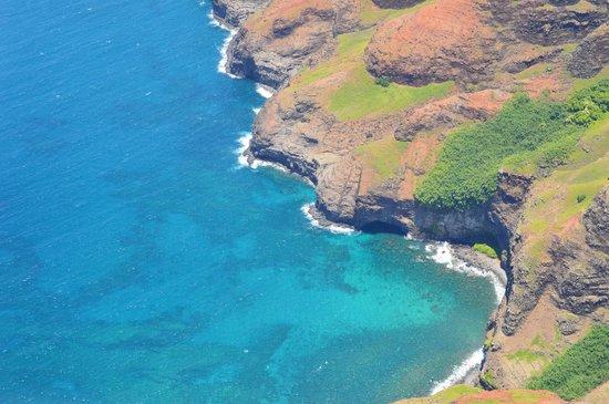 Island Helicopters Kauai: Na Pali coast line from the helicopter