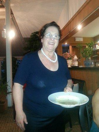 Restaurant Pizzeria Steiner : La signora Olga titolare dell'hotel sempre simpatica e gentile