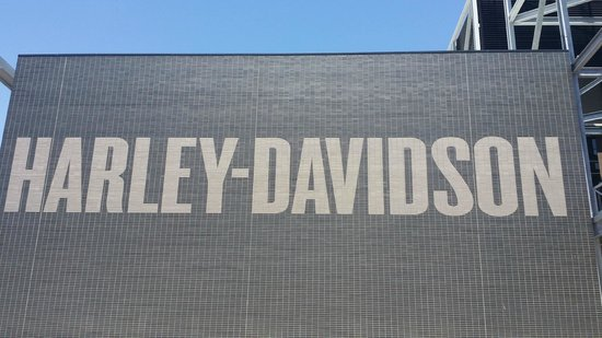 Harley-Davidson Museum: The sign head on.