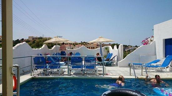 Papadakis Villas : By the pool
