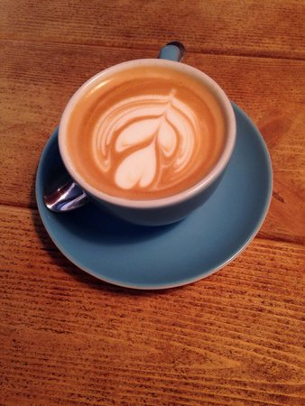 Brew and Brownie: Flat white coffee