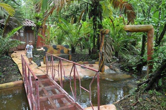 Blue River Resort & Hot Springs: à l endroit de la boue, petite rivière chaude