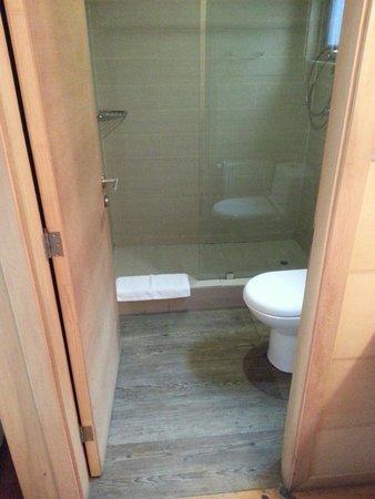Hotel Palafito 1326 : Bathroom in the tres habitaciones persona (room for three people).