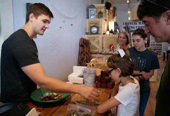 Crystal Mountain Gem Mine : The owner described all of the gems our grand kids found.