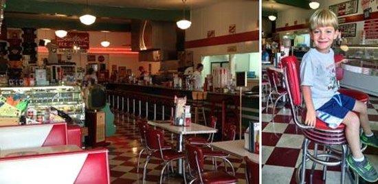 Rocky's Grill & Soda Shop : Picture inside Rocky's Soda Shop, Brevard, NC