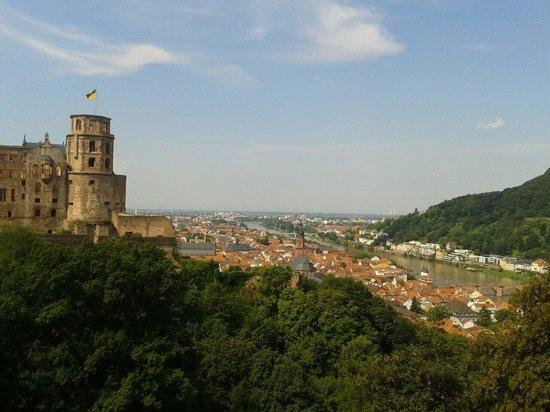 Schloss Heidelberg: View from the castle's garden