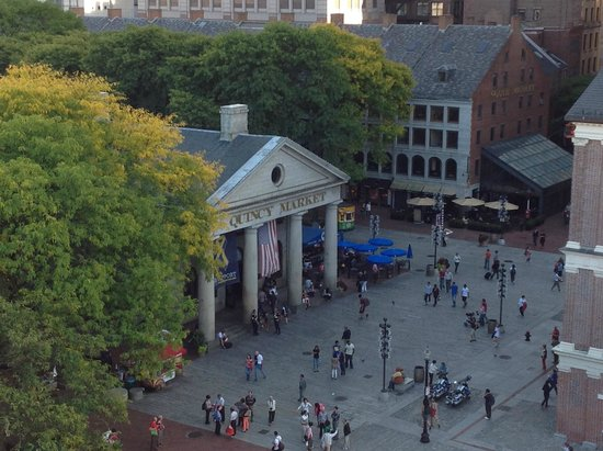 The Bostonian Boston: View of Faneuil Hall from the Penthouse Balcony