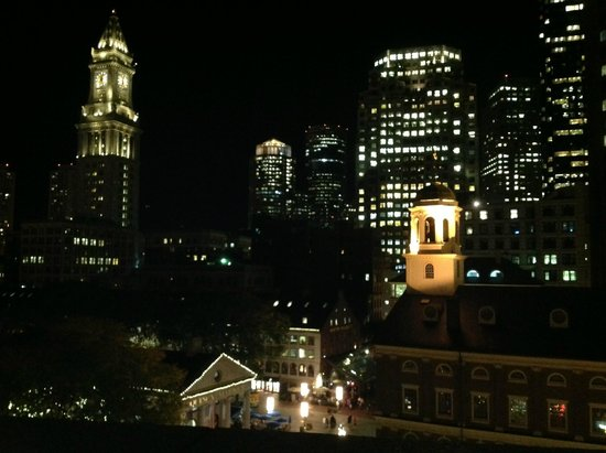 The Bostonian Boston: Nighttime View from the Penthouse Balcony
