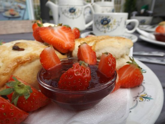 Berryfields Farm: Strawberry tea at Berryfields