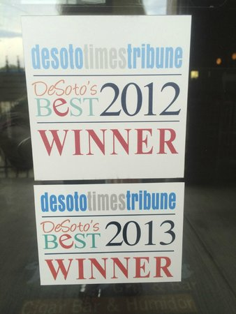 Wadfords Grill and Bar: Winner of Best of Desoto since opening!