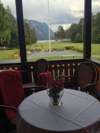 Dalen Hotel: Utsikt fra terrassen