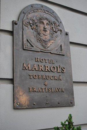 Marrol's Boutique Hotel Bratislava: signage on the exterior