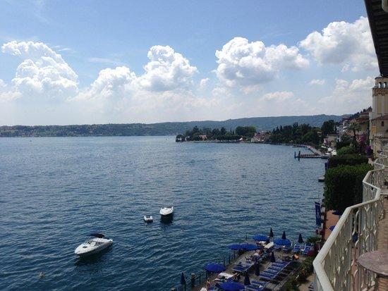 Grand Hotel Gardone: view from balcony